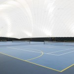 the 'bubble' has three indoor tennis courts